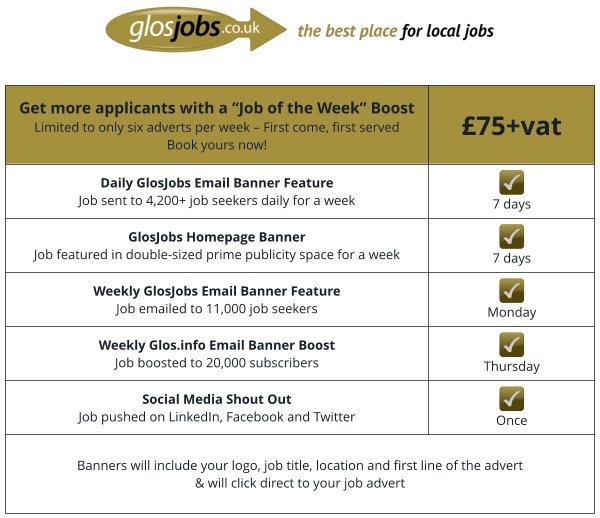 GlosJobs Job of the Week