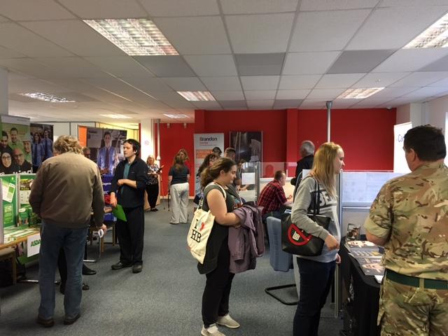 Busy Cheltenham Job Centre Jobs Fair